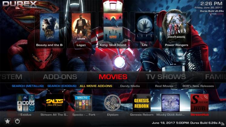 Kodi Durex Build Movies