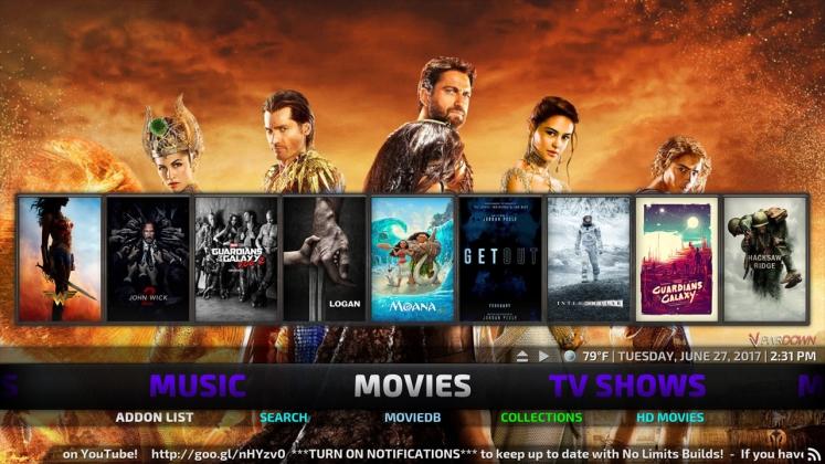 Kodi No Limits Build Movies