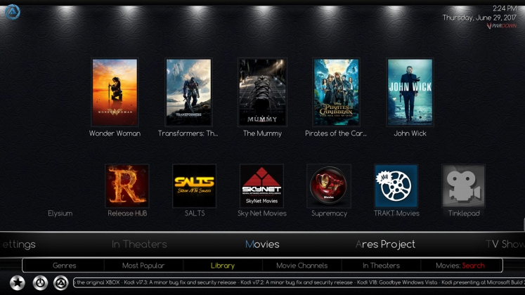 Kodi Ares Build Movies
