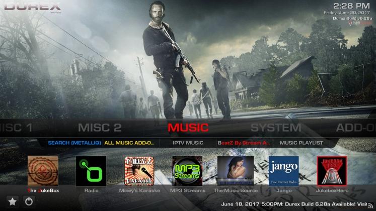 Kodi Durex Build Music