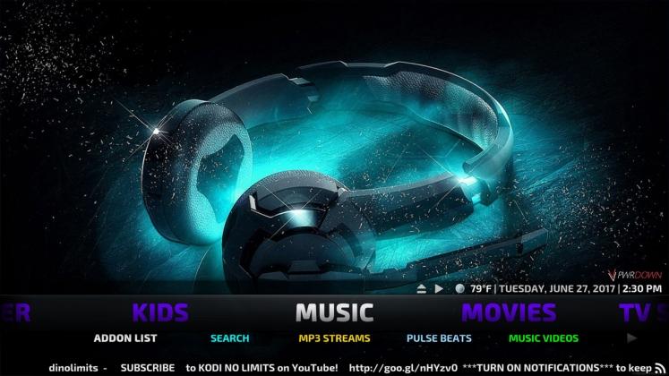 Kodi No Limits Build Music