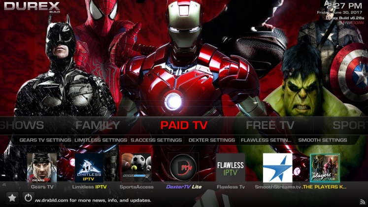 Kodi Durex Build Paid TV