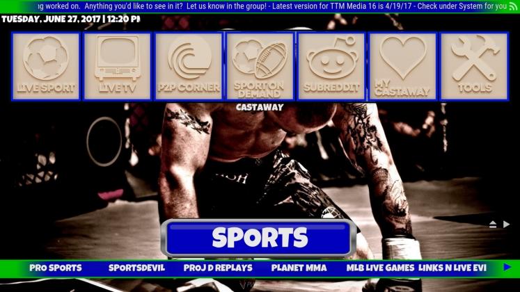 Kodi TTM Media Build Sports