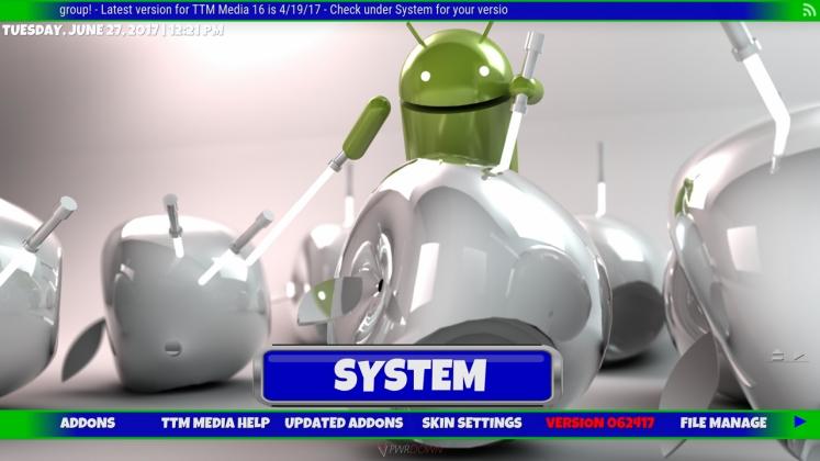 Kodi TTM Media Build System