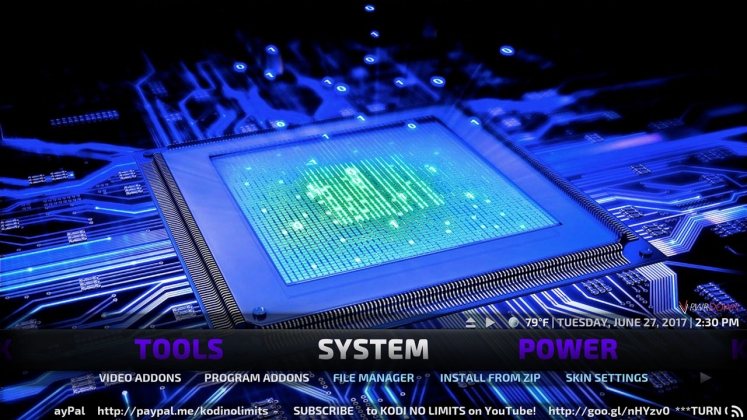 Kodi No Limits Build System