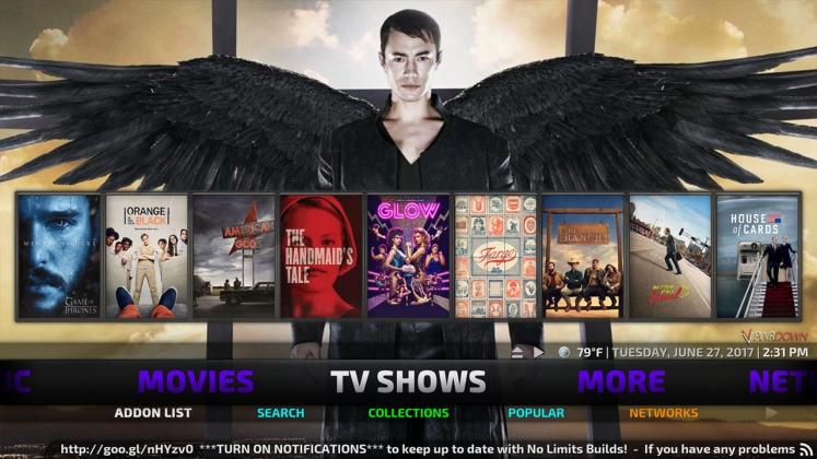 Kodi No Limits Build TV Shows