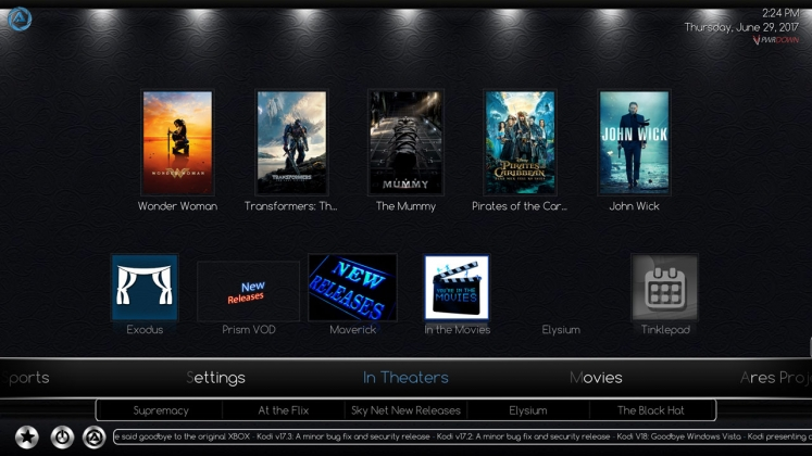 Kodi Ares Build In Theaters