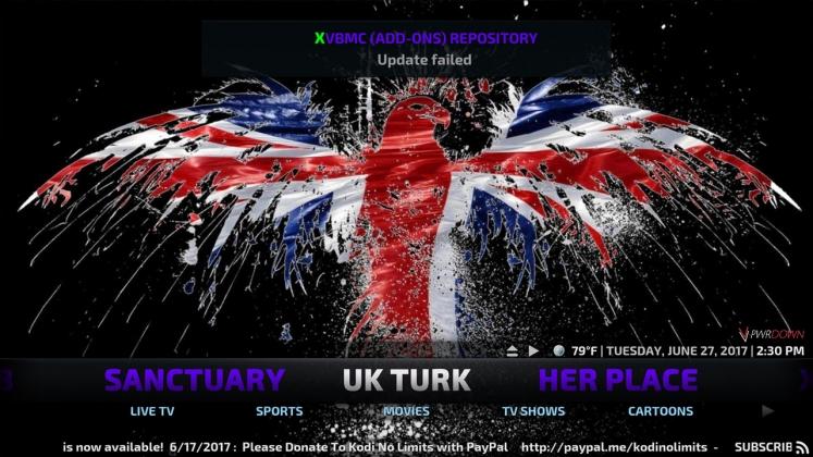 Kodi No Limits Build UK Turk