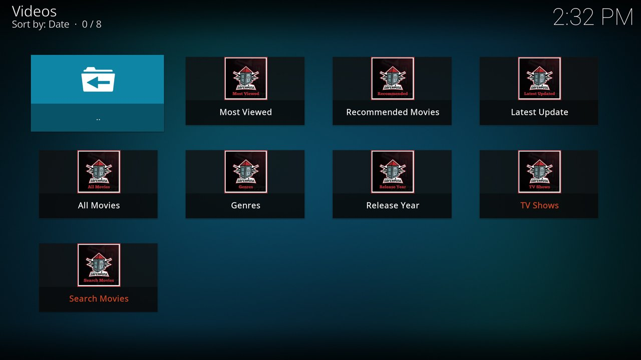 SafeHouse Movies add-on for Kodi