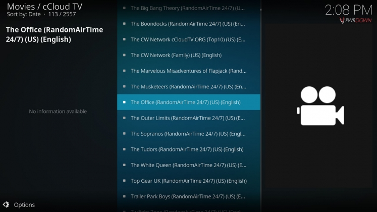Kodi cCloud TV add-on 24/7 Channels