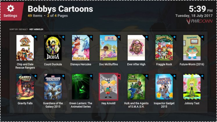 Kodi Bobbys Cartoons add-on