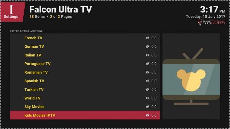 Falcon Ultra TV Countries 2