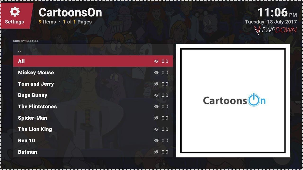 Best kodi add-ons for Kids CartoonsOn