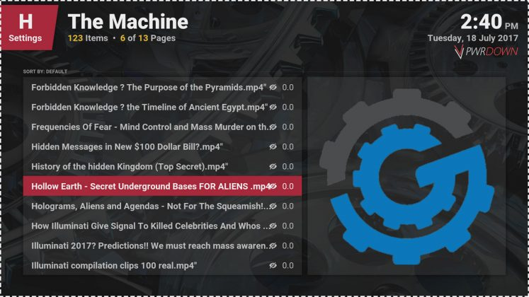 Kodi The Machine Add-on Documentaries