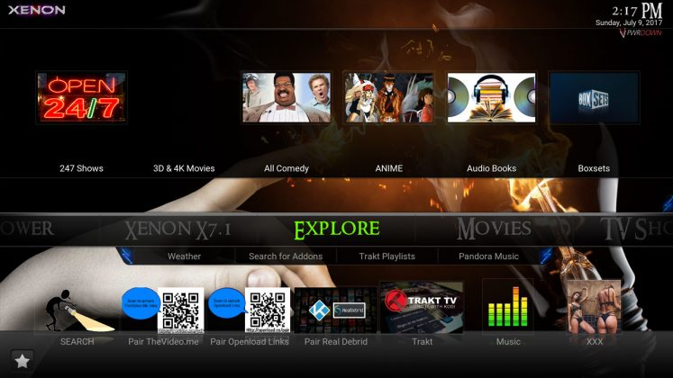 Kodi Xenon Build Explore