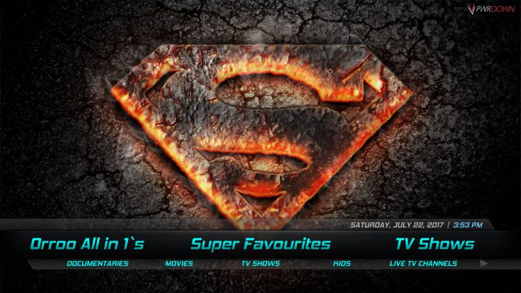 Kodi Orroo Build Super Favourites