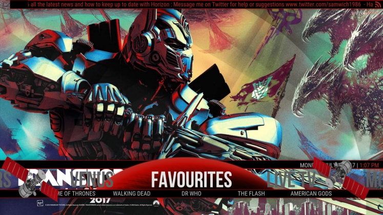 Kodi Horizon Build Favourites