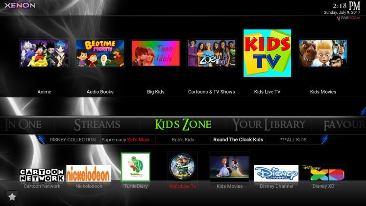 Kodi Xenon Build Kids Zone