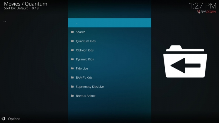 Kodi Quantum Add-on Kids section