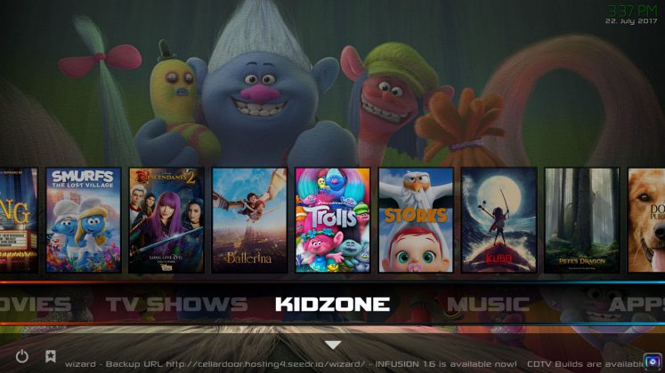 Kodi Infusion Build Kids Zone