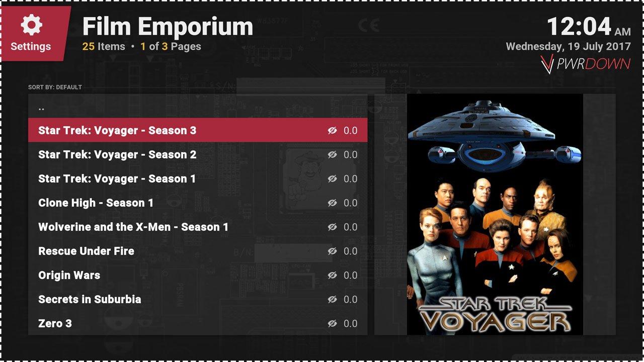 Kodi Film Emporium add-on Latest content added