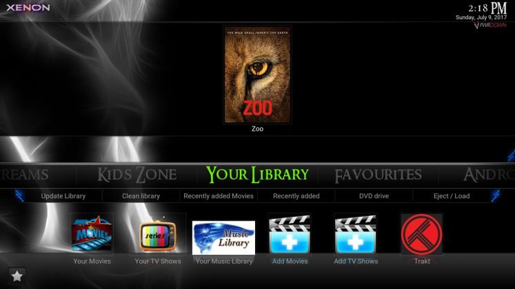 Kodi Xenon Build Your Library