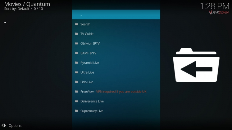 Kodi Quantum Add-on Live TV