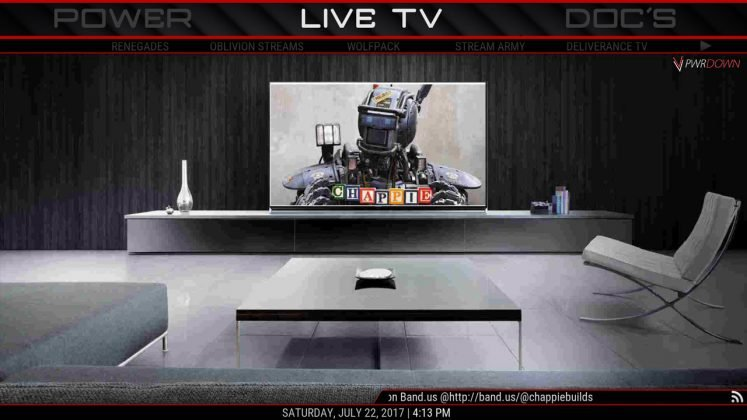 Kodi CHAPPiE Build Live TV