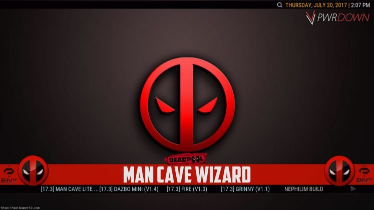 Kodi Project X Build Man Cave Wizard