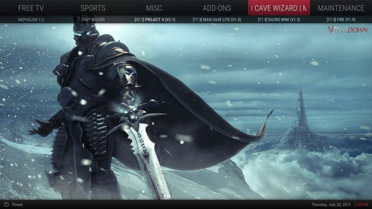 Kodi Nephilim build Man Cave Wizard