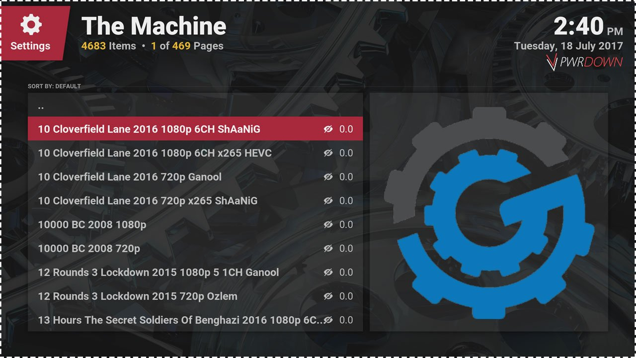 Kodi The Machine Add-on Movies