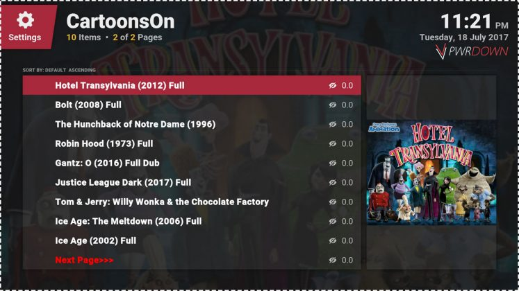 Kodi CartoonsOn add-on