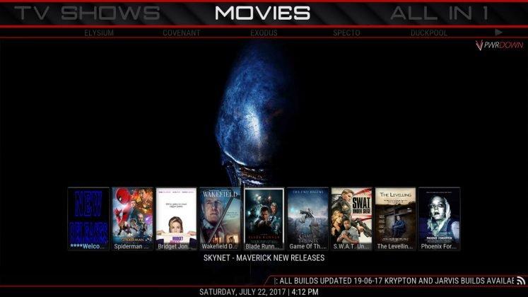Kodi CHAPPiE Build Movies
