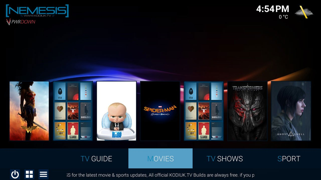 Kodi Nemesis Build Movies
