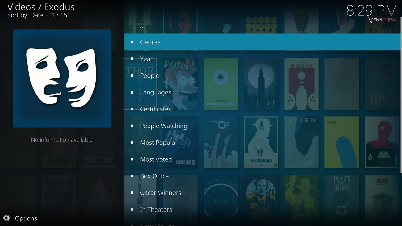 Best Movie add-on for Kodi Exodus