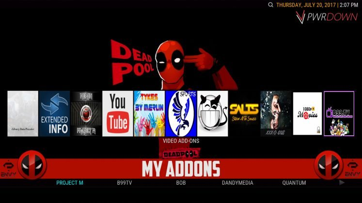 Kodi Project X Build My Add-ons