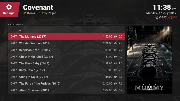 Kodi covenant add-on Movies people are watching
