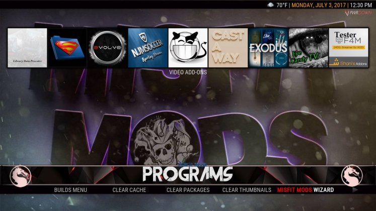Kodi HardNox Build Programs