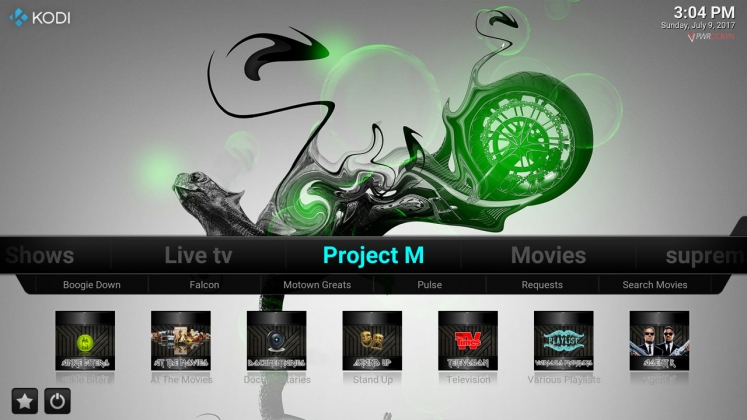 Kodi Stardust Build Project M