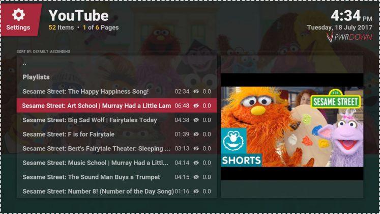 Kodi Binky TV addon Sesame Street