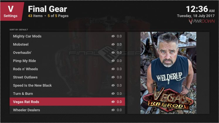 Kodi Final Gear More available shows
