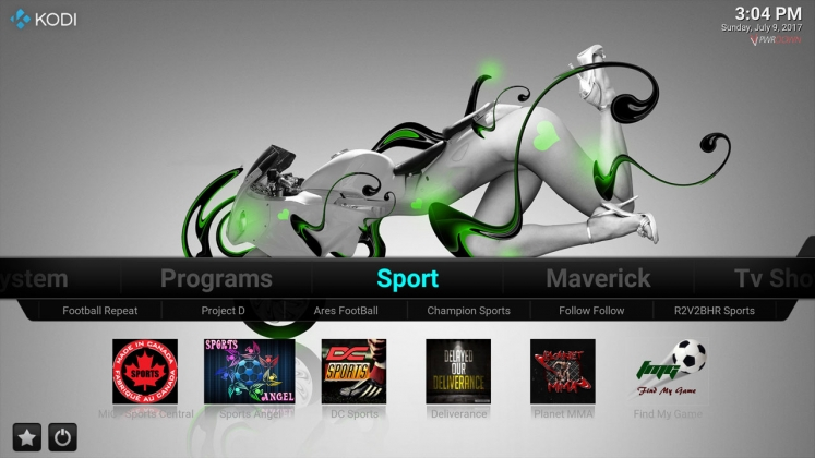 Kodi Stardust Build Sport