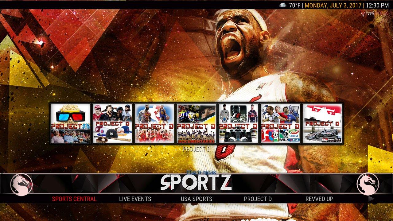 Kodi HardNox Build Sports