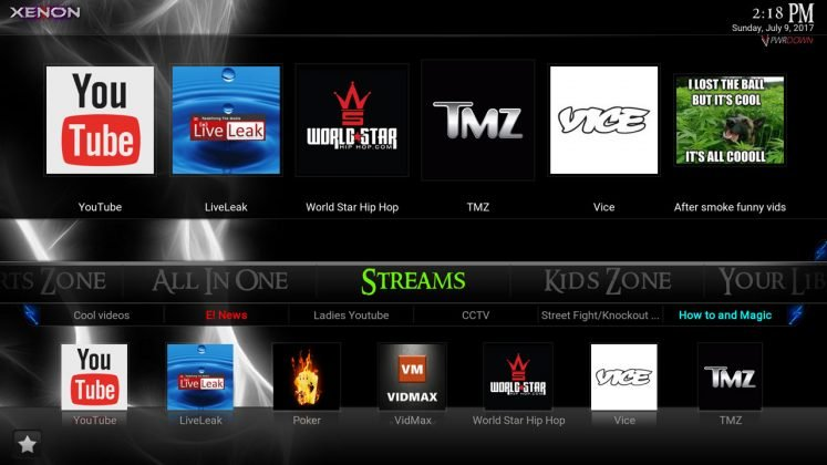 Kodi Xenon Build Streams