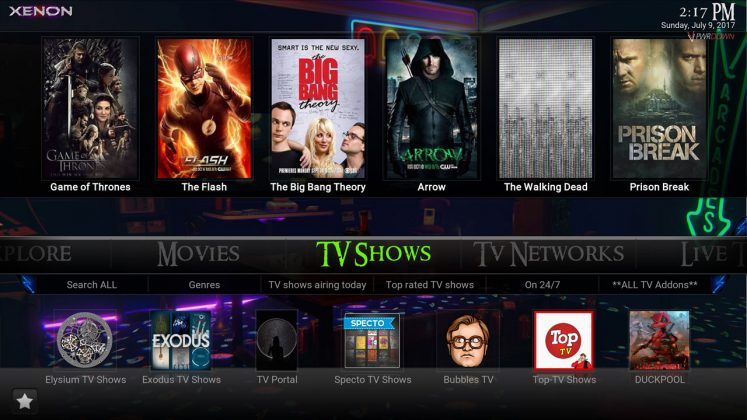 Kodi Xenon Build TV Shows