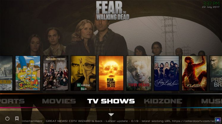 Kodi Infusion Build TV Shows