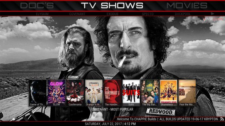 Kodi CHAPPiE Build TV Shows