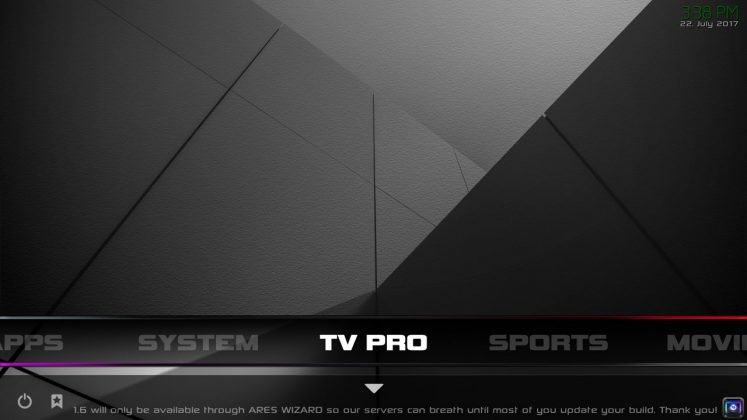 Kodi Infusion Build TV Pro