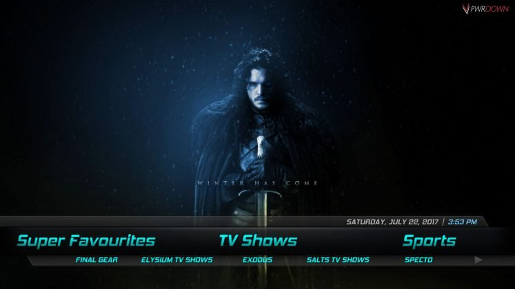 Kodi Orroo Build TV Shows