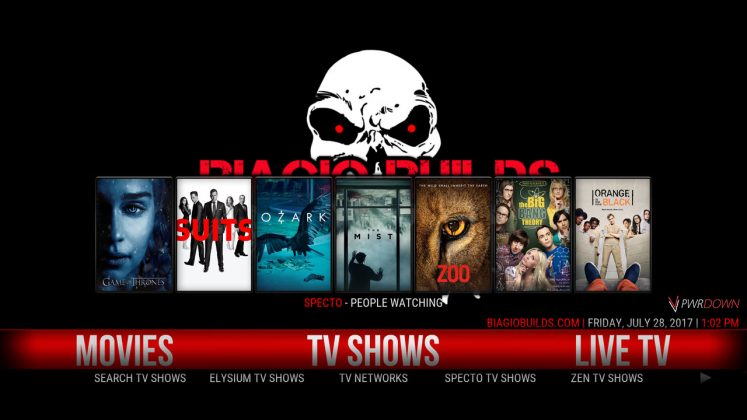 Kodi Lite BB Build TV Shows